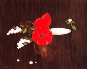 Mohnblüten und Beeren by Heide Dahl