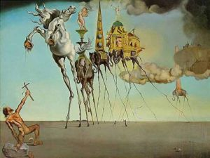 The Temptation of St. Anthony by Salvador Dali
