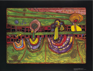 Downtownlane by Friedensreich Hundertwasser