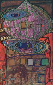 Erinnerung an das Bild by Friedensreich Hundertwasser