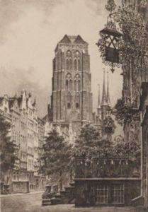 Danzig, Jopengasse by Bruck