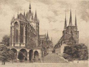 Erfurt, Dom und Severinkirche by Bruck