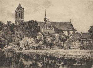 Güstrow, Dom (landscape) by Bruck