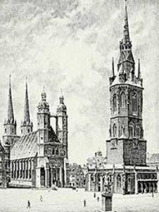 Halle, Markt by Bruck