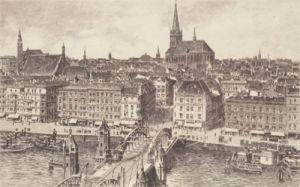 Stettin, Hansabrücke by Bruck