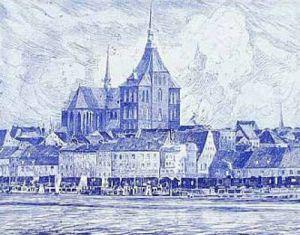 Rostock, Gesamtansicht by Bruck