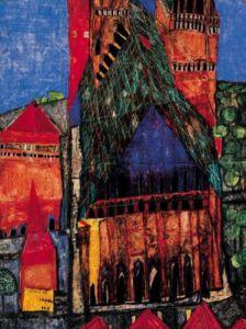 Kathedrale by Friedensreich Hundertwasser