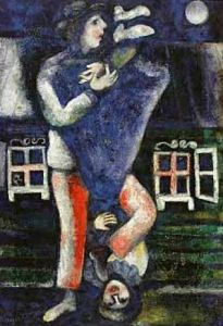 The Walk by Marc Chagall