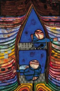 Tender Dinghi by Friedensreich Hundertwasser