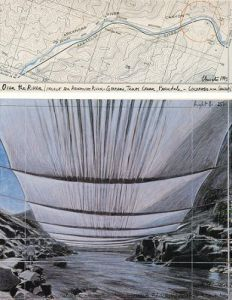Over the River II Underneath by Javacheff Christo