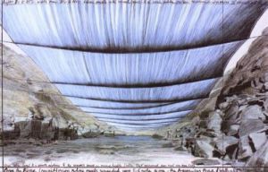 Over the River IV Underneath by Javacheff Christo
