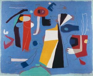 Szene in Blau by Willi Baumeister
