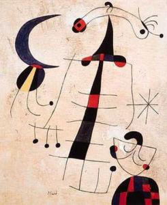 Lovers Lament by Joan Miro