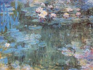 Purple Waterlilies by Claude Monet