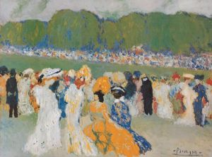 Longchamps-Rennen by Pablo Picasso