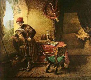 Der Student by Rembrandt