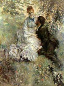 Idyll (Loving), 1875 by Pierre Auguste Renoir