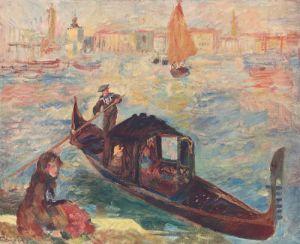 Venice with Gondola by Pierre Auguste Renoir