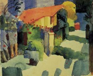 Haus im Garten by August Macke