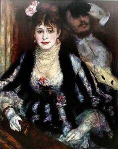 The Box by Pierre Auguste Renoir