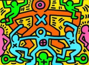Untitled (1985) by Keith Haring