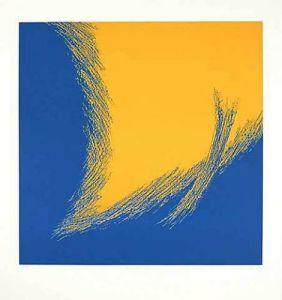 Dualität III (Blau,Gelb) by Paul Nievergelt