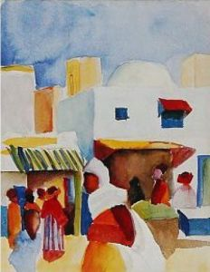 Markt in Tunis I by August Macke
