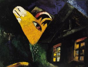 L'étable (1917) by Marc Chagall