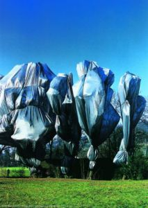 Wrapped Trees Nr. 12 (Riehen) by Javacheff Christo
