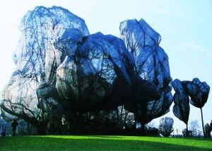 Wrapped Trees Nr. 14 (Riehen) by Javacheff Christo