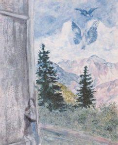 Landscape of Peyra-Cava, 1930 by Marc Chagall