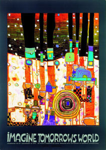 Blues Blues Orange (2000) by Friedensreich Hundertwasser