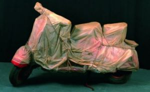 Wrapped Vespa, 1963-64 by Javacheff Christo