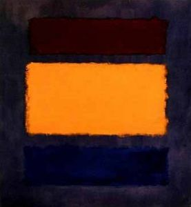 Brown, Orange, Blue on Maroon by Mark Rothko