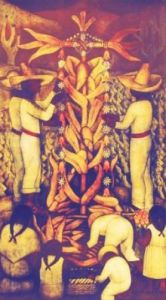 Corn Festival by Diego Rivera