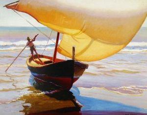 Fishing Boat by Arthur Rider