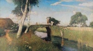 Sommer am Moorkanal by Otto Modersohn