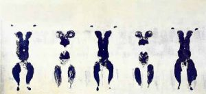 Anthropometrie, ANT 100, 1960 by Yves Klein
