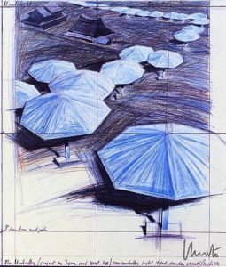 Umbrellas Blue III Joan Prats (1986) by Javacheff Christo