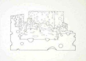 Wohnzimmer 2, 1980 by Hans Dieter Schaal