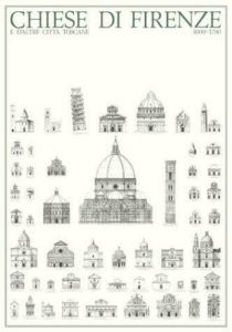Florence - Chiese di Firenze by Architekturplakate