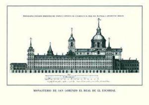 El Escorial - Seitenansicht by Architekturplakate
