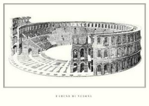 Verona - L'arena di Verona by Architekturplakate