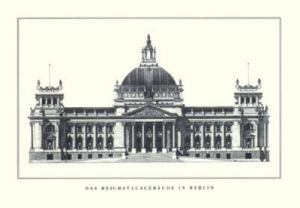 Berlin - Reichstagsgebäude by Architekturplakate