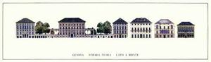 Genoa - Strada Nuova, Lato a Monte by Architekturplakate