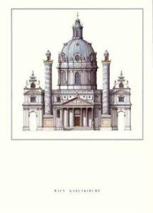 Vienna - Karlskirche by Architekturplakate