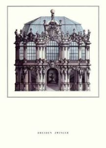 Dresden - Zwinger by Architekturplakate