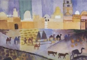 Kairouan I (groß) by August Macke