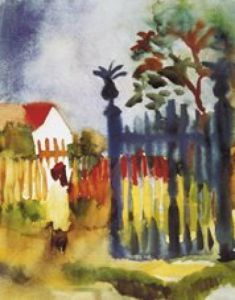 Gartentor, 1914 by August Macke