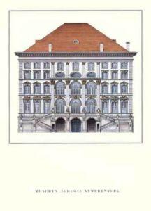München - Schloß Nymphenburg by Architekturplakate